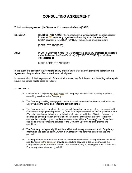 Consulting Agreement_Long