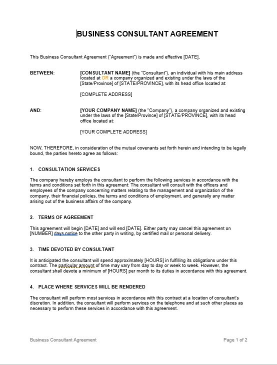 Consulting Agreement_Short